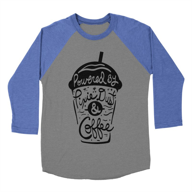 Powered By Men's Baseball Triblend T-Shirt by Greg Gosline Design Co.