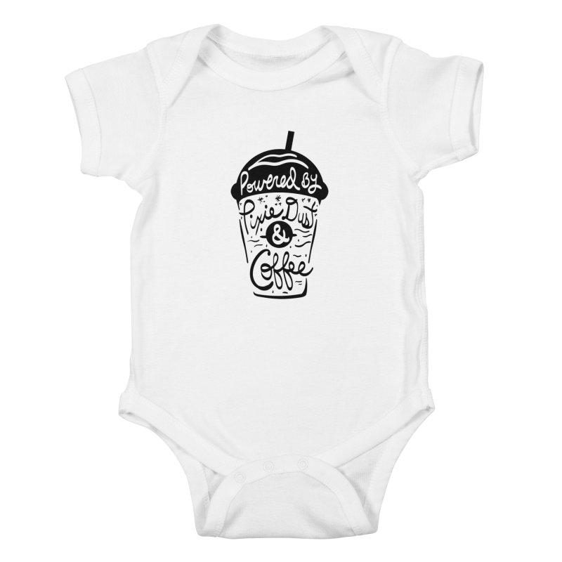 Powered By Kids Baby Bodysuit by Greg Gosline Design Co.