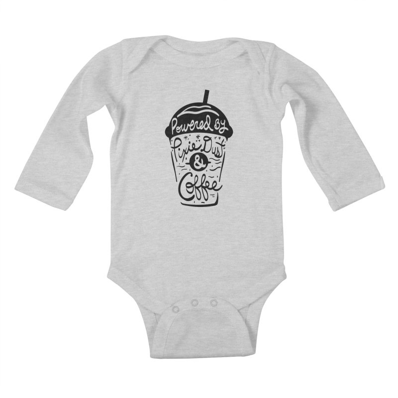 Powered By Kids Baby Longsleeve Bodysuit by Greg Gosline Design Co.