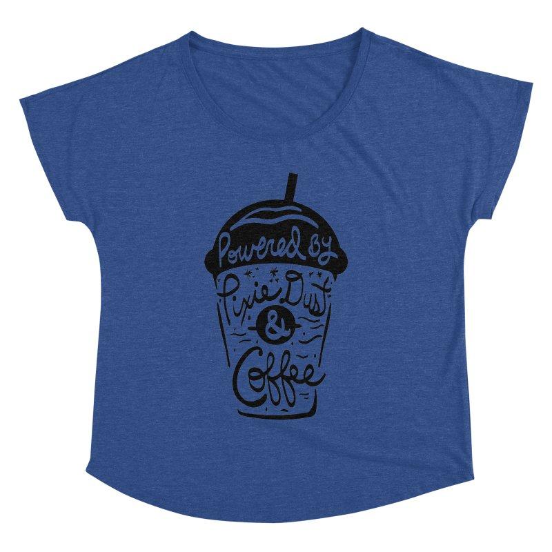 Powered By Women's Dolman Scoop Neck by Greg Gosline Design Co.