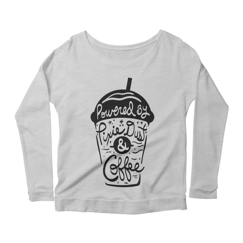 Powered By Women's Scoop Neck Longsleeve T-Shirt by Greg Gosline Design Co.