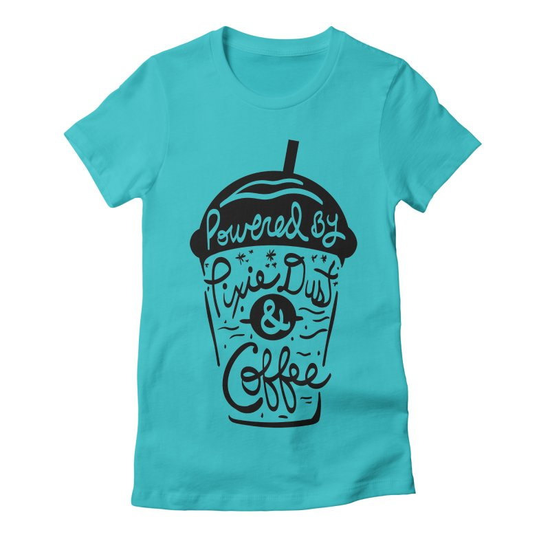 Powered By Women's Fitted T-Shirt by Greg Gosline Design Co.