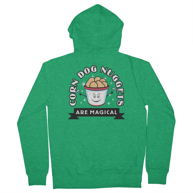 Corn Dog Nuggets Are Magical Women's Zip-Up Hoody by Greg Gosline Design Co.