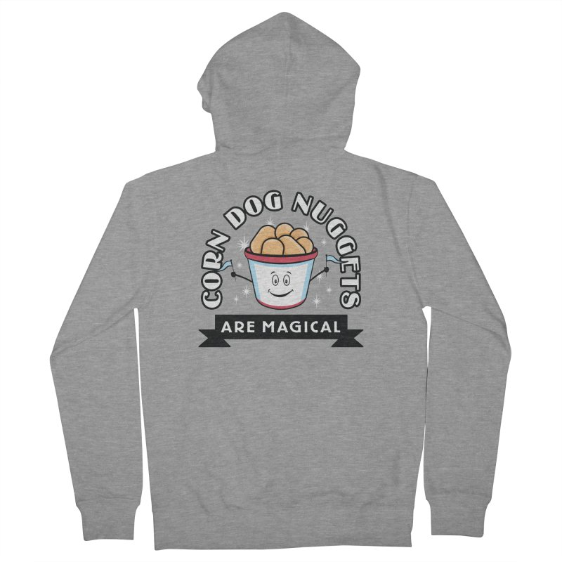 Corn Dog Nuggets Are Magical Men's French Terry Zip-Up Hoody by Greg Gosline Design Co.