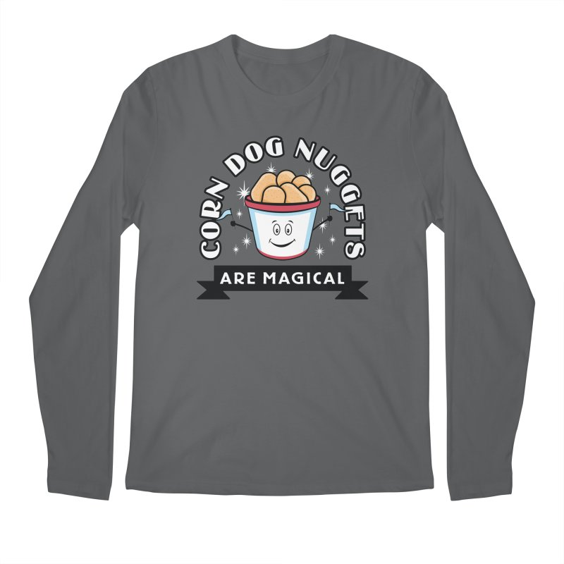 Corn Dog Nuggets Are Magical Men's Regular Longsleeve T-Shirt by Greg Gosline Design Co.
