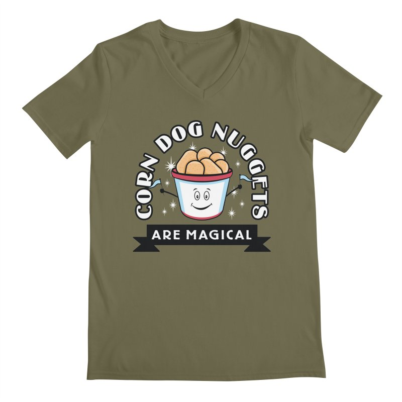 Corn Dog Nuggets Are Magical Men's V-Neck by Greg Gosline Design Co.