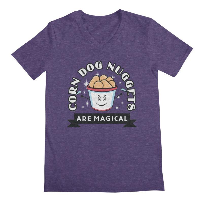 Corn Dog Nuggets Are Magical Men's Regular V-Neck by Greg Gosline Design Co.