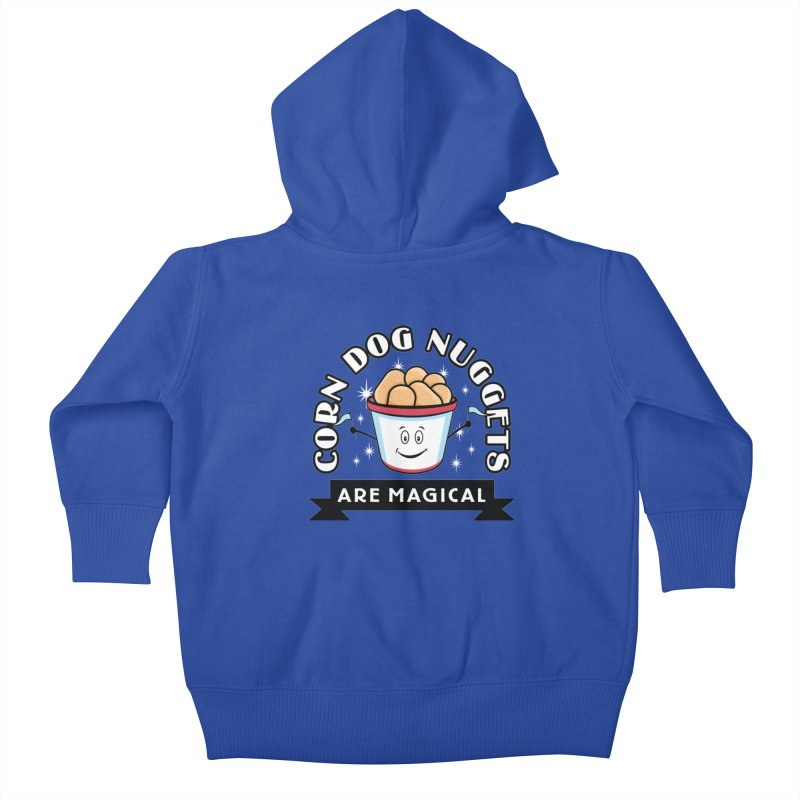 Corn Dog Nuggets Are Magical Kids Baby Zip-Up Hoody by Greg Gosline Design Co.