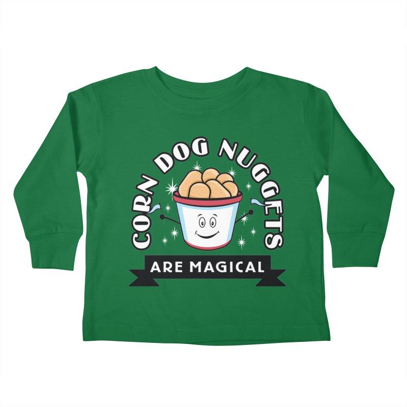 Corn Dog Nuggets Are Magical Kids Toddler Longsleeve T-Shirt by Greg Gosline Design Co.