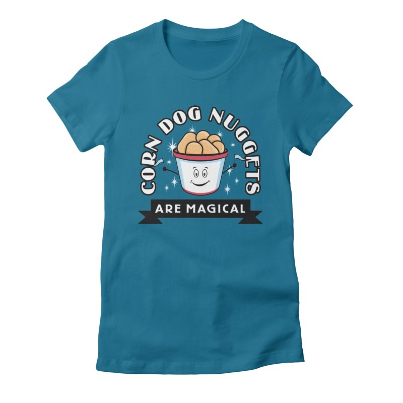 Corn Dog Nuggets Are Magical Women's Fitted T-Shirt by Greg Gosline Design Co.