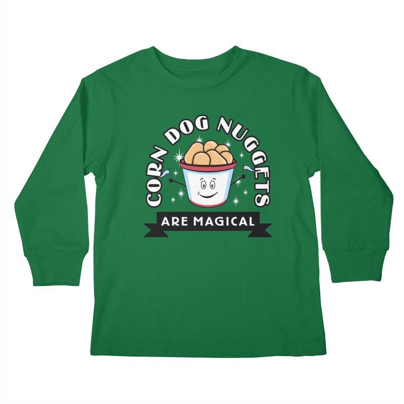 Corn Dog Nuggets Are Magical Kids Longsleeve T-Shirt by Greg Gosline Design Co.