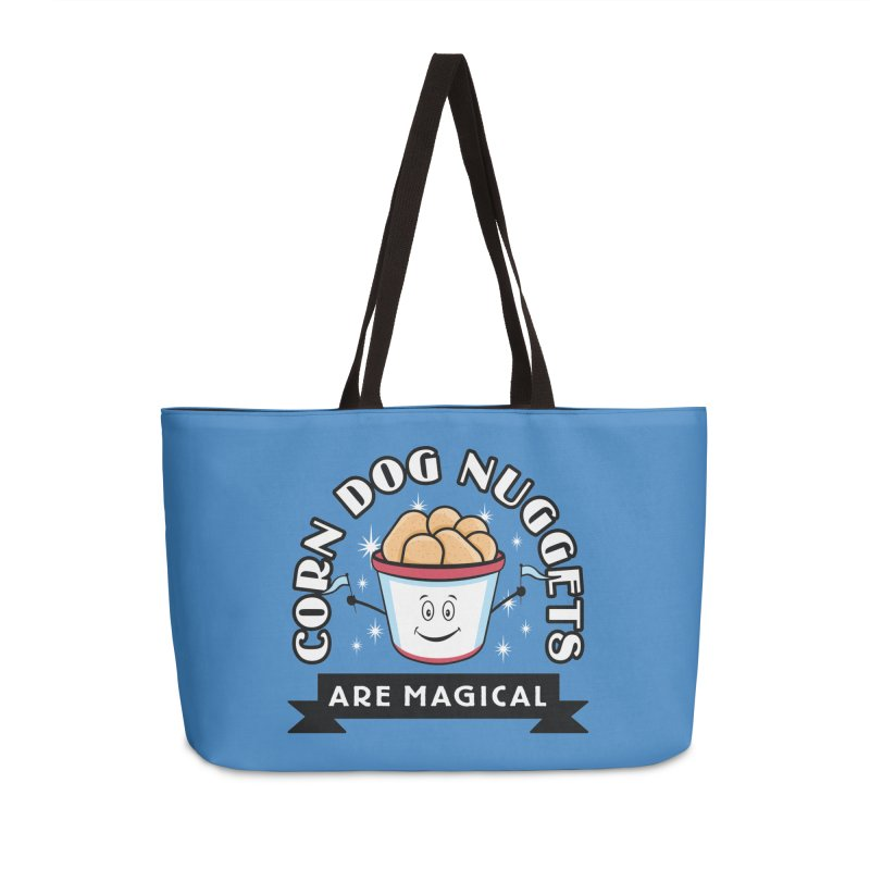 Corn Dog Nuggets Are Magical Accessories Weekender Bag Bag by Greg Gosline Design Co.