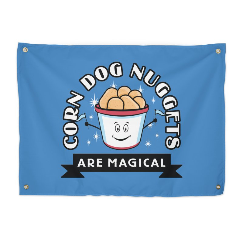 Corn Dog Nuggets Are Magical Home Tapestry by Greg Gosline Design Co.