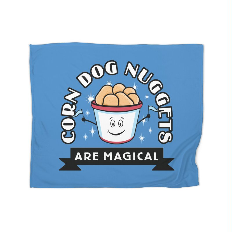 Corn Dog Nuggets Are Magical Home Fleece Blanket Blanket by Greg Gosline Design Co.