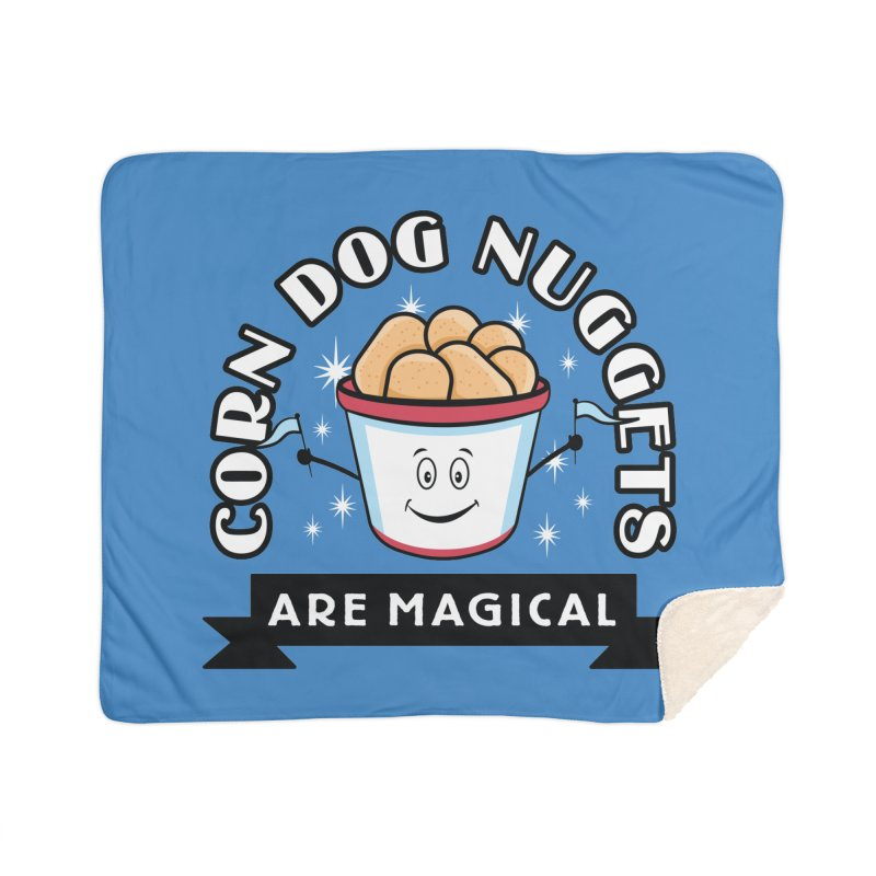 Corn Dog Nuggets Are Magical Home Blanket by Greg Gosline Design Co.