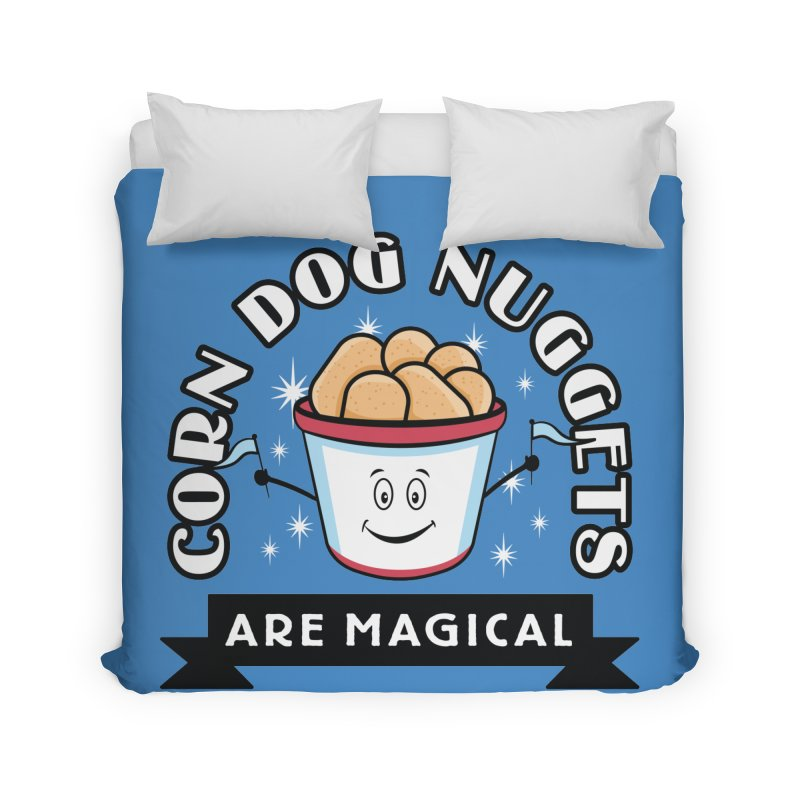 Corn Dog Nuggets Are Magical Home Duvet by Greg Gosline Design Co.