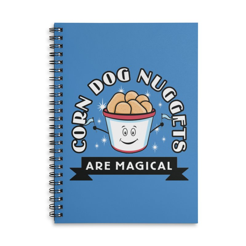 Corn Dog Nuggets Are Magical Accessories Lined Spiral Notebook by Greg Gosline Design Co.