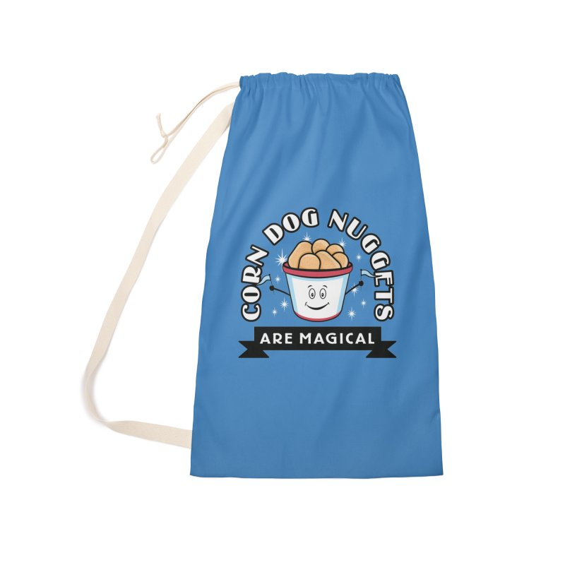 Corn Dog Nuggets Are Magical Accessories Laundry Bag Bag by Greg Gosline Design Co.