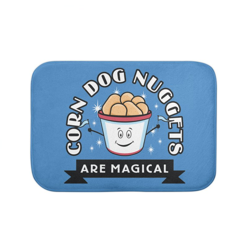Corn Dog Nuggets Are Magical Home Bath Mat by Greg Gosline Design Co.