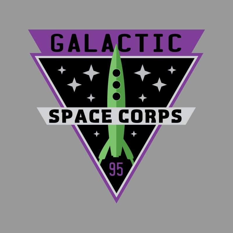 Galactic Space Corps Home Fine Art Print by Greg Gosline Design Co.