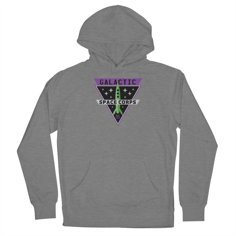 Galactic Space Corps Men's French Terry Pullover Hoody by Greg Gosline Design Co.