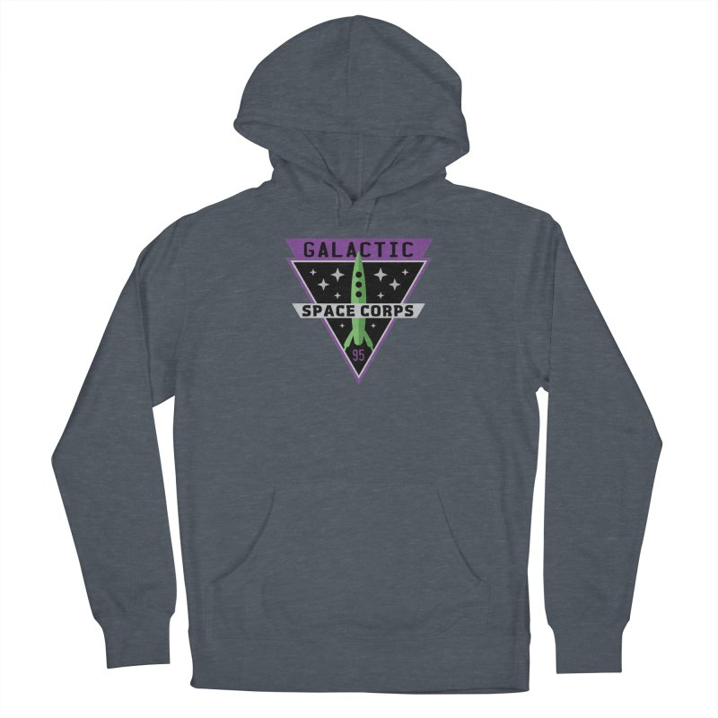 Galactic Space Corps Women's French Terry Pullover Hoody by Greg Gosline Design Co.