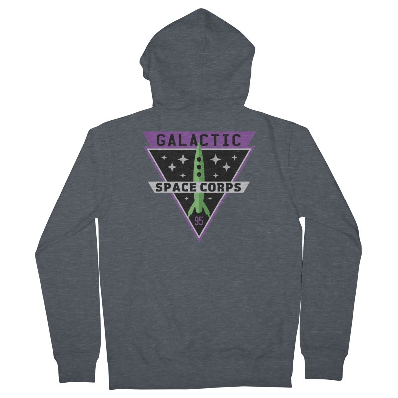 Galactic Space Corps Women's French Terry Zip-Up Hoody by Greg Gosline Design Co.