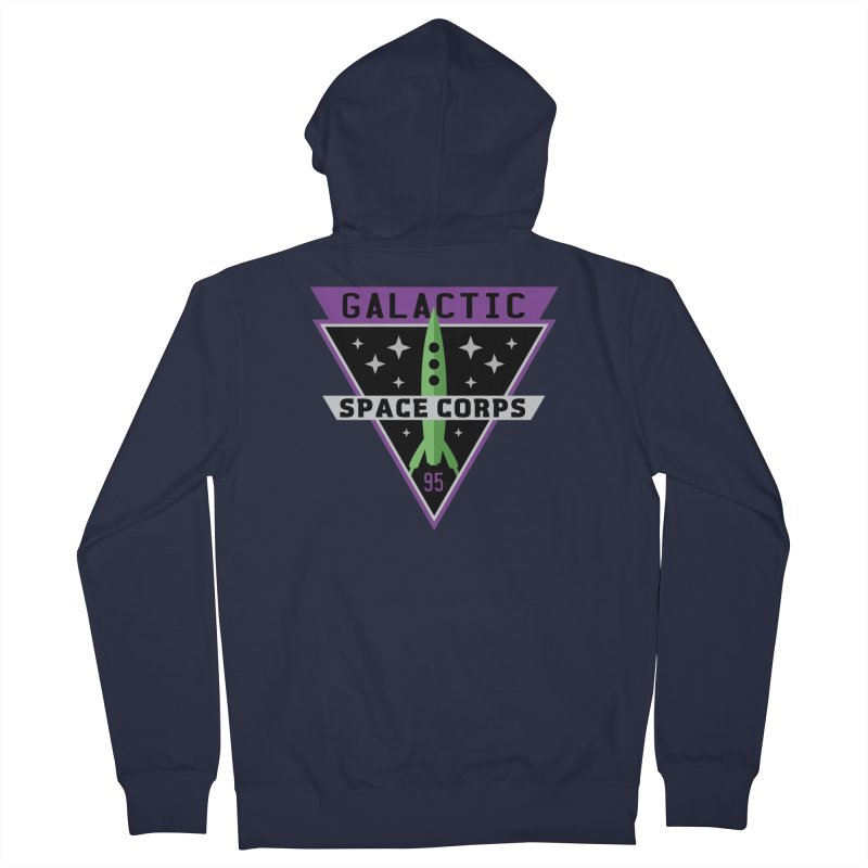 Galactic Space Corps Men's French Terry Zip-Up Hoody by Greg Gosline Design Co.
