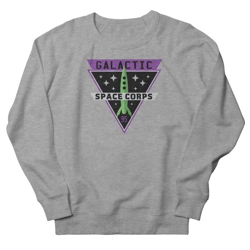 Galactic Space Corps Women's French Terry Sweatshirt by Greg Gosline Design Co.