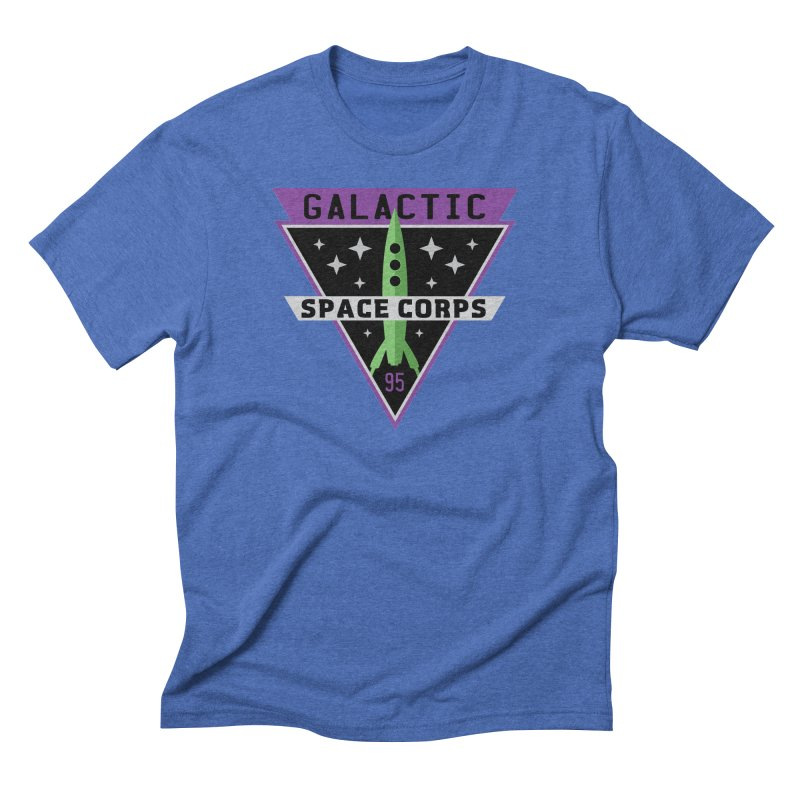 Galactic Space Corps Men's Triblend T-shirt by Greg Gosline Design Co.