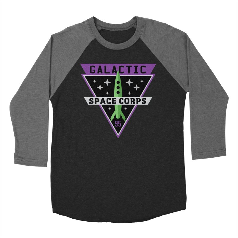 Galactic Space Corps Women's Baseball Triblend Longsleeve T-Shirt by Greg Gosline Design Co.