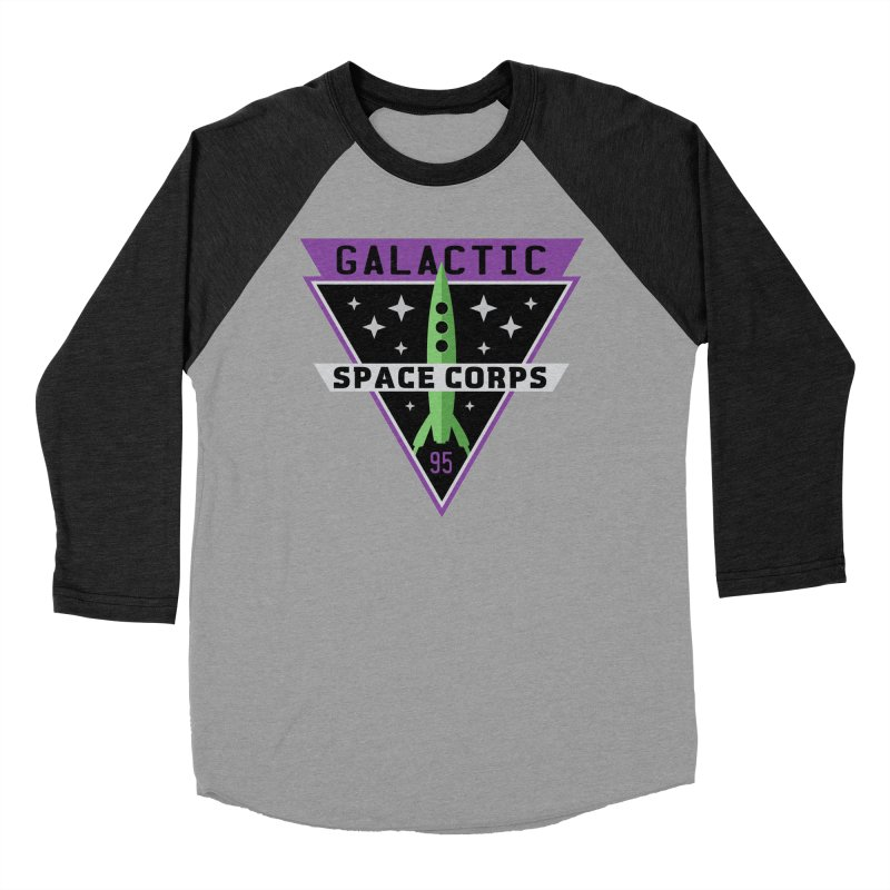 Galactic Space Corps Women's Baseball Triblend T-Shirt by Greg Gosline Design Co.