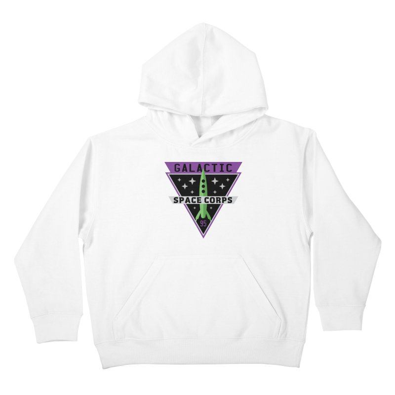 Galactic Space Corps Kids Pullover Hoody by Greg Gosline Design Co.