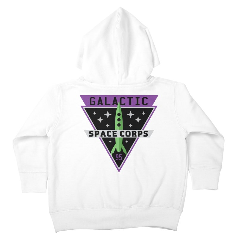 Galactic Space Corps Kids Toddler Zip-Up Hoody by Greg Gosline Design Co.
