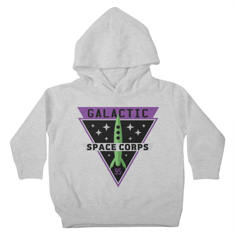 Galactic Space Corps Kids Toddler Pullover Hoody by Greg Gosline Design Co.