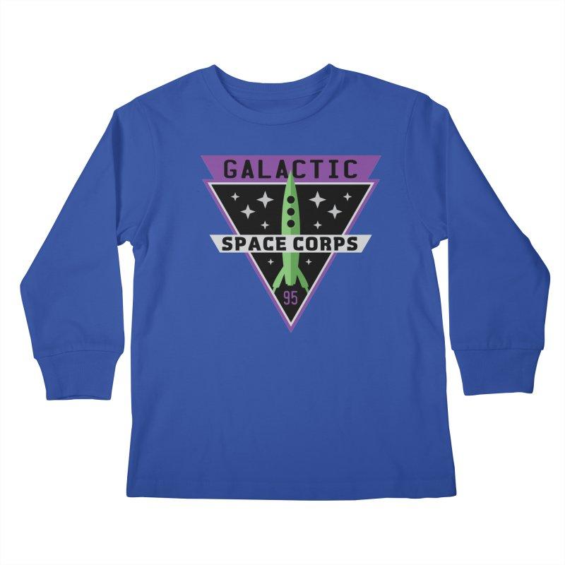 Galactic Space Corps Kids Longsleeve T-Shirt by Greg Gosline Design Co.