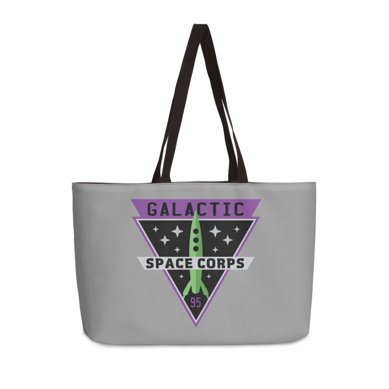 Galactic Space Corps Accessories Weekender Bag Bag by Greg Gosline Design Co.
