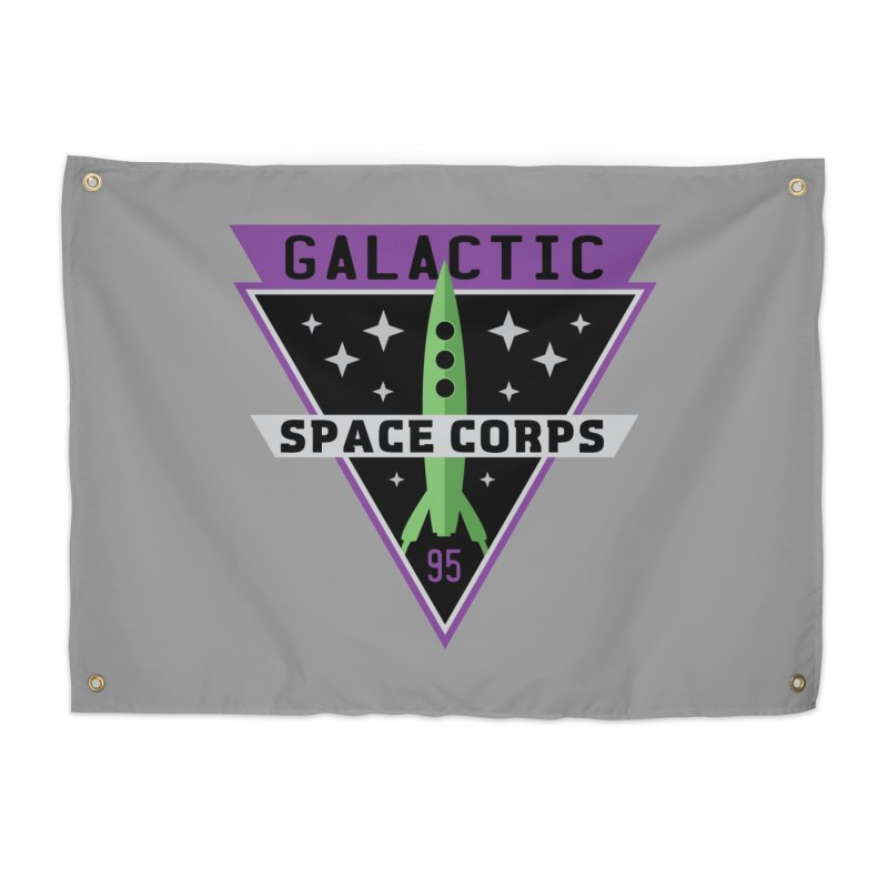 Galactic Space Corps Home Tapestry by Greg Gosline Design Co.