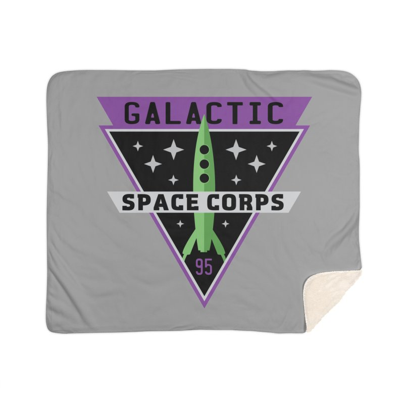 Galactic Space Corps Home Sherpa Blanket Blanket by Greg Gosline Design Co.