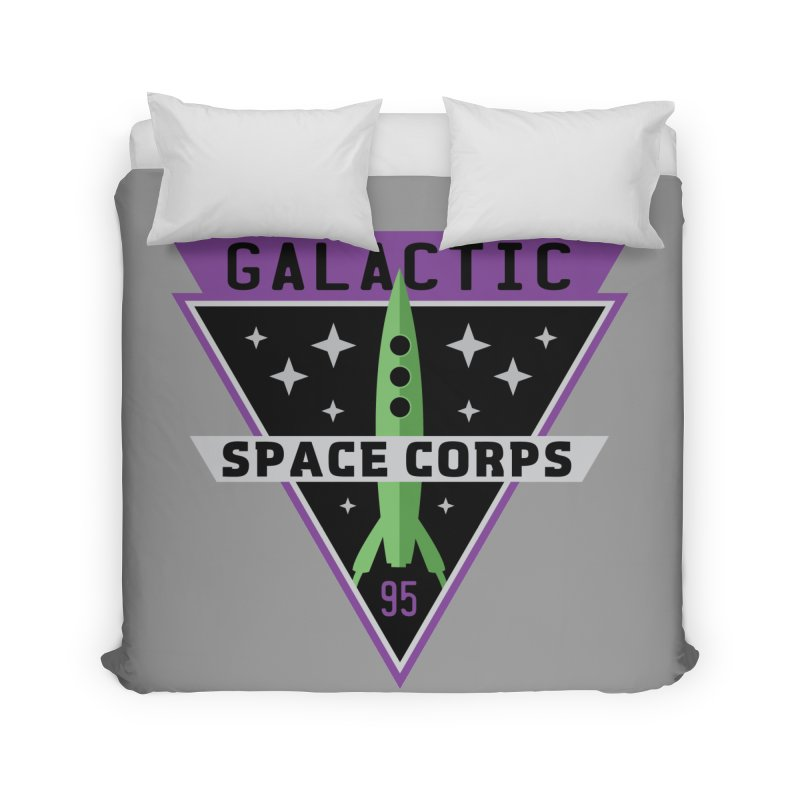 Galactic Space Corps Home Duvet by Greg Gosline Design Co.