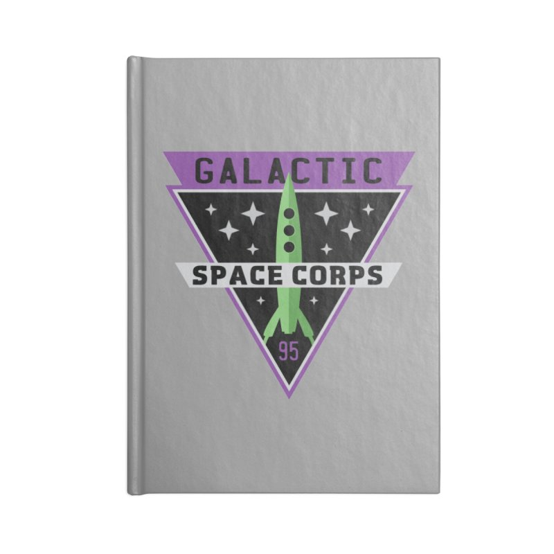 Galactic Space Corps Accessories Blank Journal Notebook by Greg Gosline Design Co.