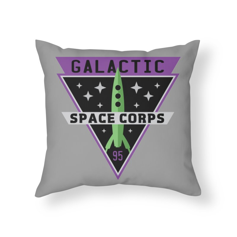 Galactic Space Corps Home Throw Pillow by Greg Gosline Design Co.