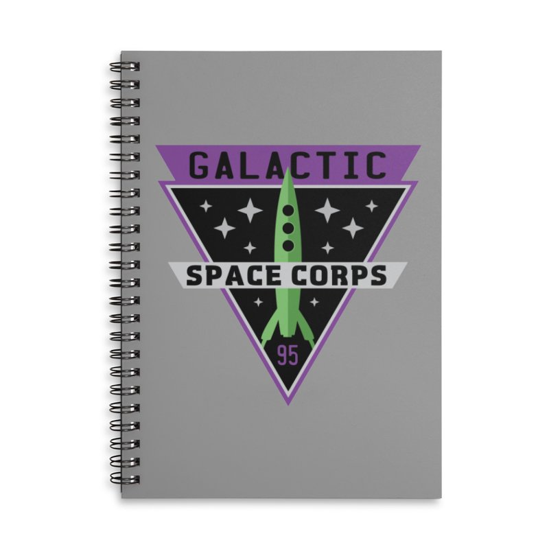 Galactic Space Corps Accessories Lined Spiral Notebook by Greg Gosline Design Co.