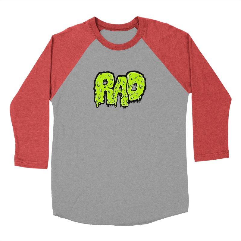 Rad Women's Baseball Triblend Longsleeve T-Shirt by Greg Gosline Design Co.