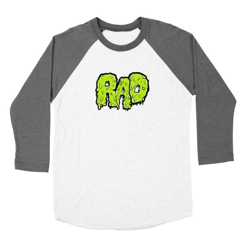 Rad Men's Baseball Triblend Longsleeve T-Shirt by Greg Gosline Design Co.