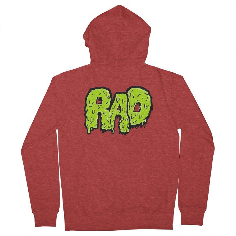 Rad Men's French Terry Zip-Up Hoody by Greg Gosline Design Co.