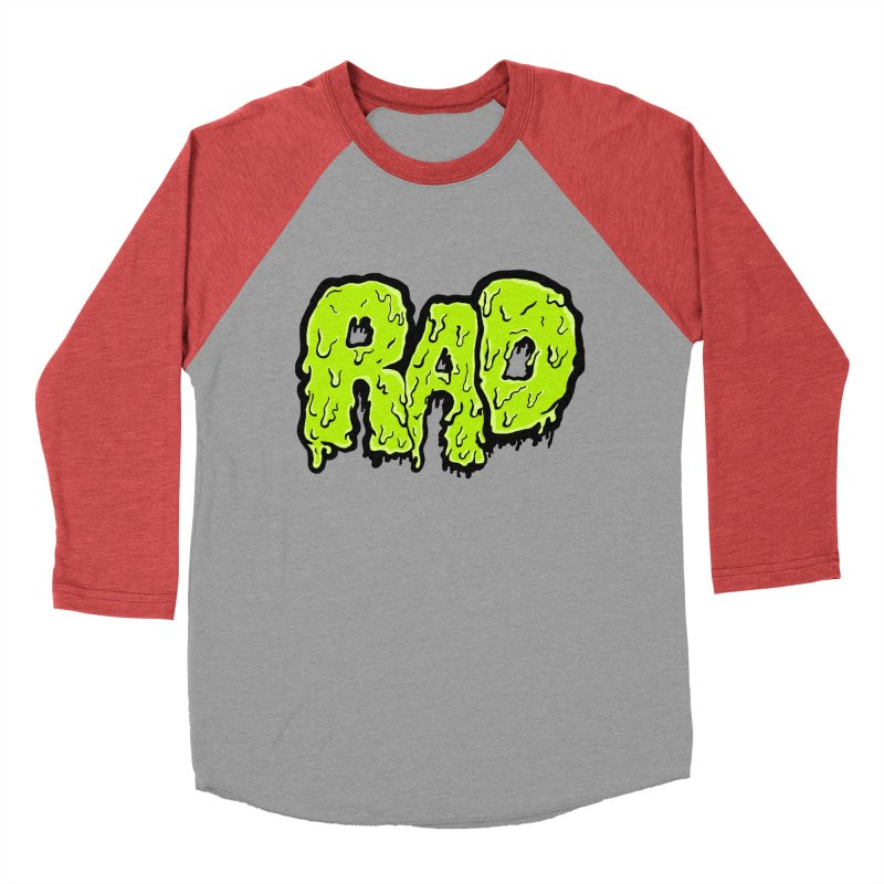 Rad Men's Baseball Triblend T-Shirt by Greg Gosline Design Co.