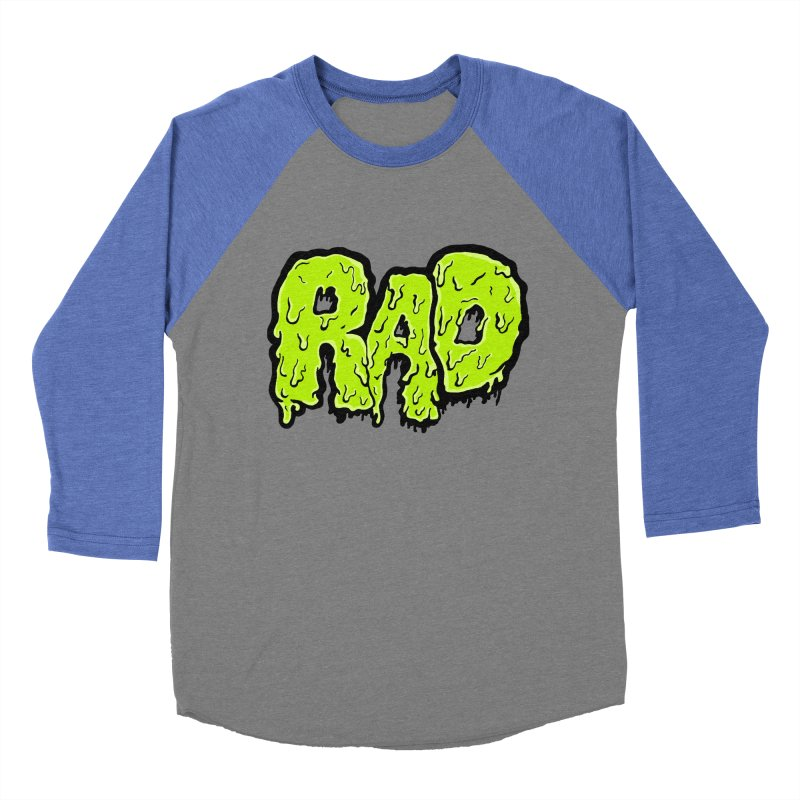 Rad Men's Baseball Triblend Longsleeve T-Shirt by Greg Gosline Design Co.
