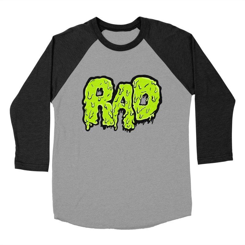 Rad Men's Baseball Triblend T-Shirt by Greg Gosline Design Co.