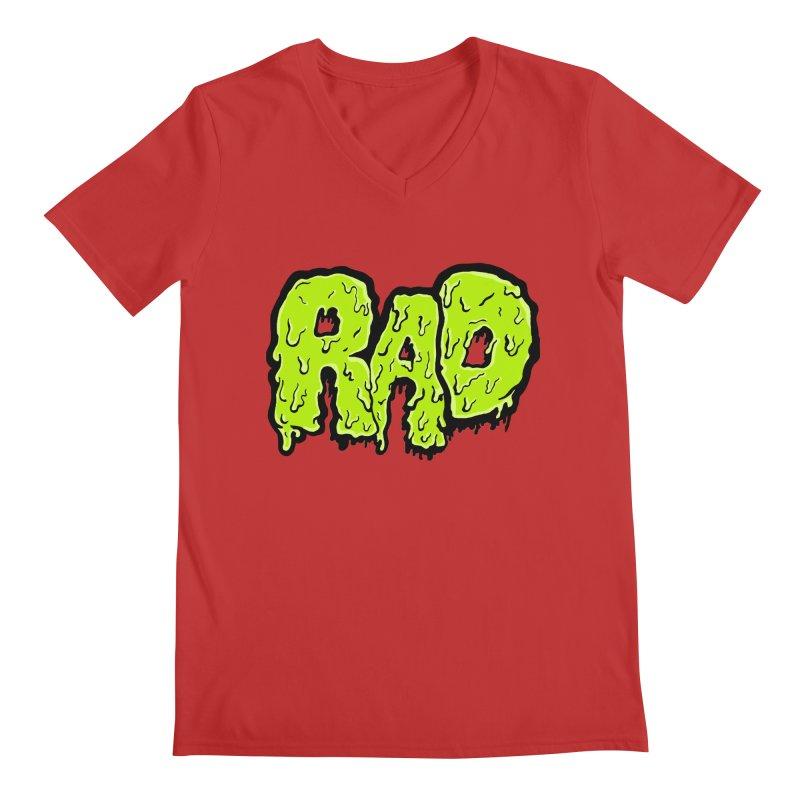 Rad Men's Regular V-Neck by Greg Gosline Design Co.